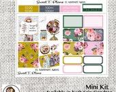 Adventure Awaits Travel Floral Mini Weekly kit Erin Condren Happy Planner planner stickers