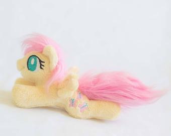 Fluttershy Plush Toy Custom Stuffed Animal  - Made to Order