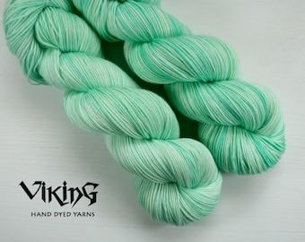 SALE!! Hand Dyed Yarn - Superwash Merino, Cashmere & Silk in 'Seafoam'