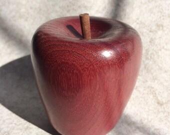 Purple heart / wood apple / hand turned