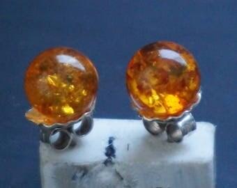 Silver, Amber earrings
