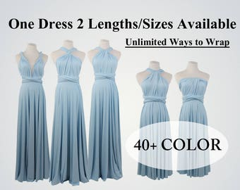 Baby Blue infinity bridesmaid dress long bridesmaid dress short convertible dresses party dress twist wrap dress sleeveless dress