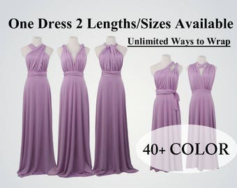 Lavender Convertible Bridesmaid Dresses, Long Lilac Convertible Dress, beach dress, infinity dress,party dress,multi way dress,evening dress