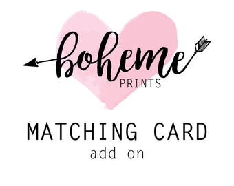ADD ON Matching Card