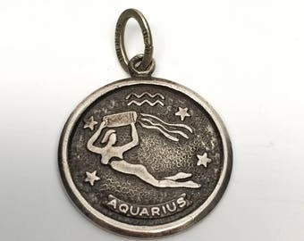 Vintage Aquarius Charm, Beau Sterling