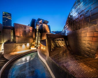 Guggenheim Museum Bilbao. España, Spain. Romantic print, home decor