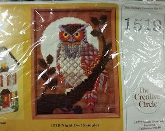 Night Owl Sampler - designed by Eugenia Parflionow-Needlepoint kit