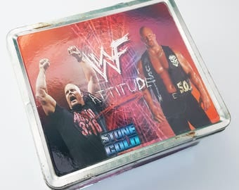 WWF Stone Cold Tin Lunch Box