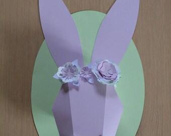 trophy rabbit diy customizable origami decoration/baby