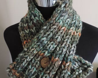 Hand Knit Chunky Scarf & Neck Warmer