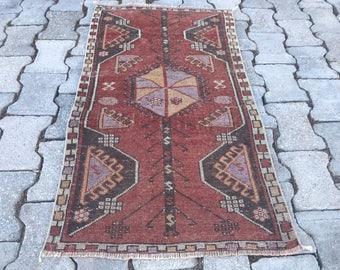 """Small carpet, Oushak rugs, floor rugs, Rugs, 3'7"""" x 2'  turkish rugs small rug oushak rug, turkish  rug, small persian  rug, vintage rug,"""
