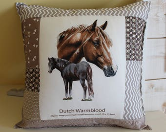 Horse pillow / DUTCH WARMBLOOD