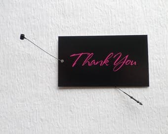 100 CLOTHING TAGS JEWELRY Tags Accessories Tags Boutique Tags Cute Black Thank You Tags Rebe's Creations Retail Tags W Self-Locking Loops