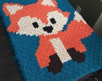 Fox Baby Blanket - Woodland Nursery Baby Blanket, Fox Stroller Blanket, Animal Receiving Blanket, READY TO SHIP