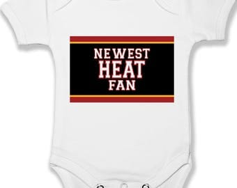 7e7d742f8aa ... Miami Heat Fan Baby Bodysuit Infant Baby Clothing Unisex Baby Clothes  ...