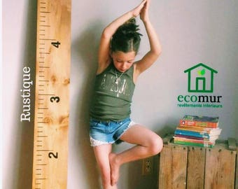 Wooden growth chart ruler growth deco wooden rules kids nursery baby growth chart