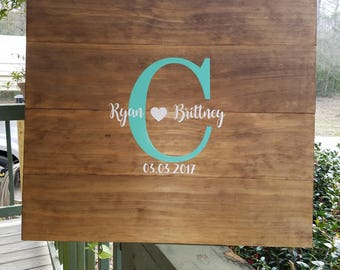 Wedding, Guest Book, Alternative, Wood Sign, Personalized, Rustic, Bridal Shower, Home, Rustic Home, Love, Us, Family, Wedding Gift