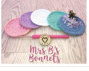 Crochet Cotton Face Scrubbies Set of 5