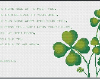 Cross Stitch Pattern - May the road rise up to meet you