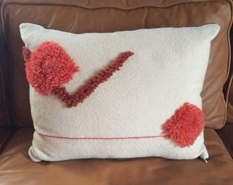 Handwoven Wool Throw Pillow