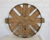 Bushel Basket Lid, Vintage Basket Top