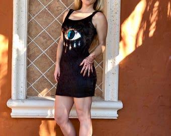 Evil Eye Little Black Dress