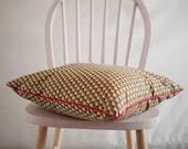 Coussin wax / coussin rouge / coussin fait main / coussin décoratif carré / style ethnique