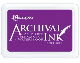 Ranger Archival Ink Deep Purple - Purple Ink - Archive Ink - Purple Archive Ink - Ranger Purple Ink - Permanent Purple Ink - Waterproof