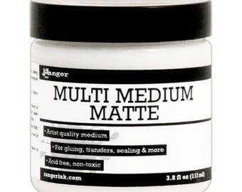 Ranger Multi Medium Matte - Collage Medium - Ranger Collage Medium Matte - Gel Medium - Matte Collage Gel Medium - Acrylic Adhesive - Matte