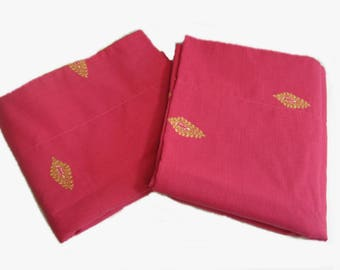 Vintage Bed Pillow Shams, Pillow Cases, Bed Linen, Hot Pink