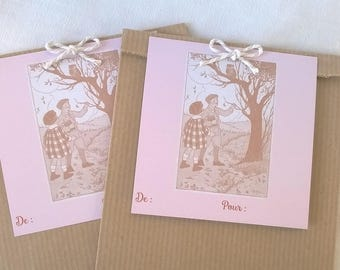 2 bags gift 21 x 12 pastel autumn label