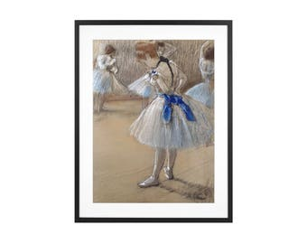 """Edgar Degas """"The Dance Studio"""" 1880 Impressionist Pastel and charcoal drawing High Quality Print"""