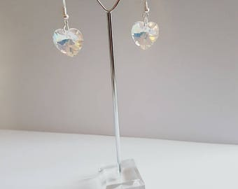 Pair of Swarovski heart earrings