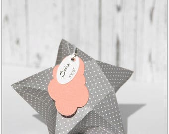 Star shaped candy box