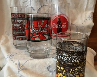 Coca Cola glass set of four
