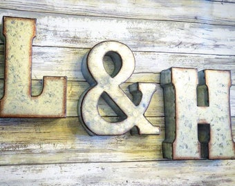 Large Metal Alphabet Letters Beauteous Large Metal Letters  Etsy Design Ideas