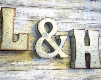 Rustic Metal Letters And Numbers Adorable Metal Letters  Etsy Design Ideas