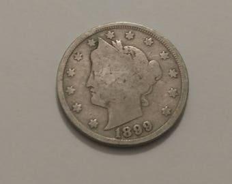 1899 Liberty Head V nickel