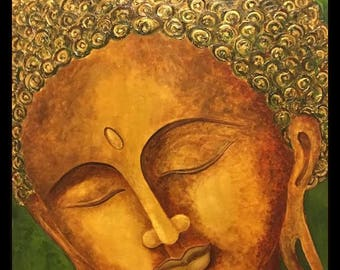 Buddha Painting. Oil Painting. Blending of Contemporary and Traditional painting