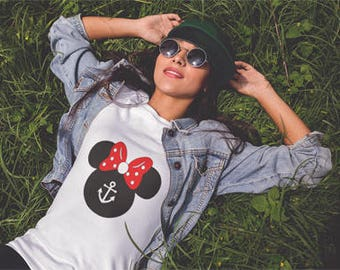 Minnie Mouse Anchor inspired T-shirt