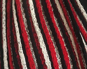 Handwoven Silk Pleated Scarf