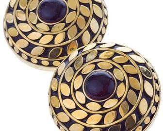 Fallon Earrings Brass