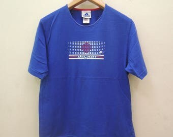 Vintage Adidas Japanese Football Association T Shirt Sport Swag Hip Hop Top Tee Size M