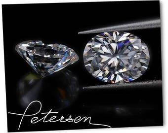 Oval Loose Moissanite Diamond Alternative - F1 - EF Colorless New Generation Diamond Alternative Loose Moissanite Oval