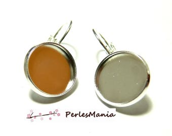 2 supports earring sleeper quality 12mm ID28319 stainless steel, DIY