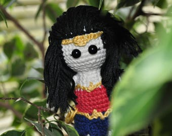 Wonder Woman crochet toy Wonder Woman  amigurumi Wonder Woman Justice League Amazonian plush toy Diana of Themyscira