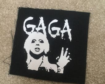 Lady GAGA hand printed patch