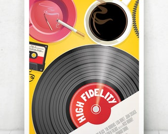 High Fidelity Movie Poster Illustration / High Fidelity Movie Poster / High Fidelity / Movie Poster