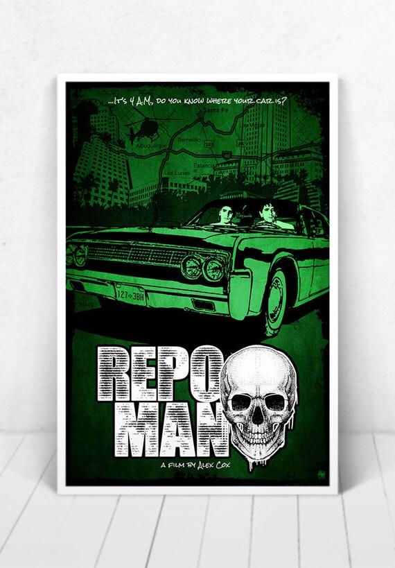 Repo Man Movie Poster Illustration / Repo Man Movie Poster / Repo Man / Movie Poster