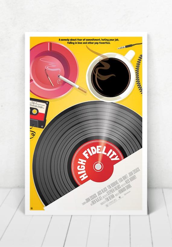 High Fidelity Movie Poster Illustration / High Fidelity Movie Poster / High Fidelity / Movie Poster
